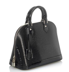 49413d3dca4 Its classic clamshell shape has a pop of patent leather to give it depth