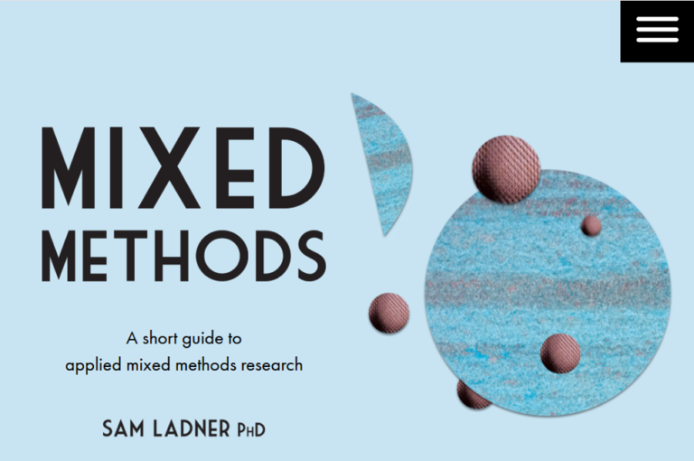 Mixed Methods Guide Web Site Screenshot